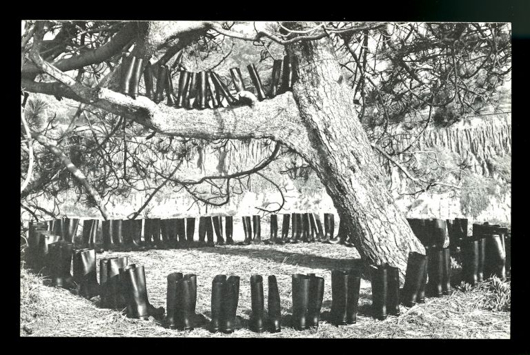 100 Boots in a Field. Eleanor Antin.