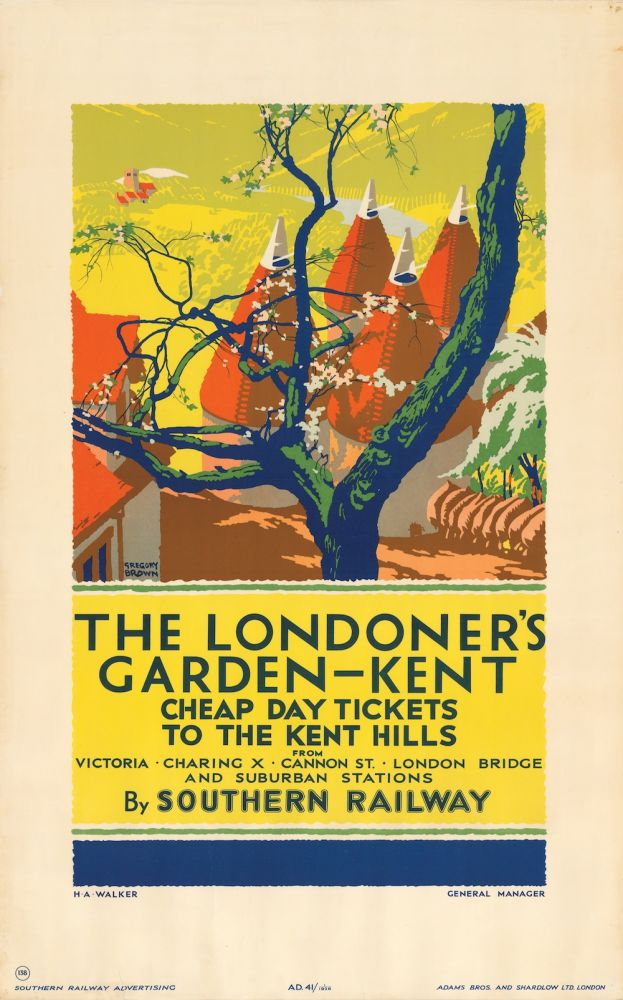 The Londoner's Garden—Kent (poster). SALE PRICE through December 31, 2018. Gregory Brown, F.