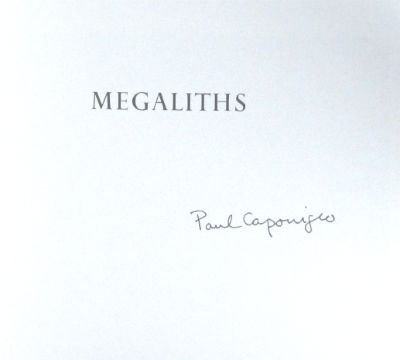 Megaliths. Signed. SALE PRICE through October 31, 2018. Paul Caponigro.