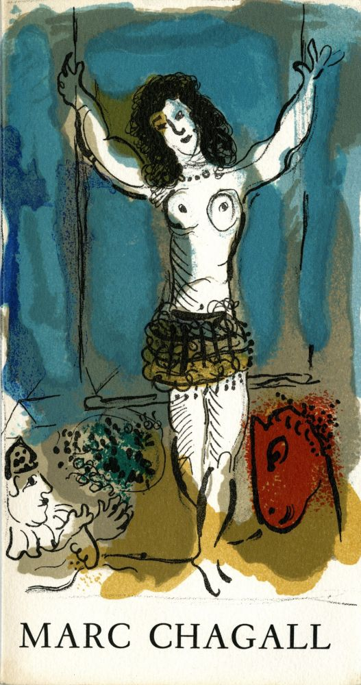 Hommage à Marc Chagall, with original lithograph cover (Mourlot 477a). Marc. Eluard Chagall, Paul.