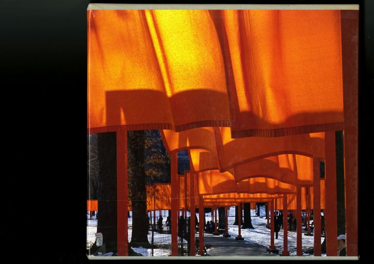 The Gates: Central Park, New York City, 1979–2005. Hors-commerce copy signed and numbered by the artists and photographer. Christo and Jeanne-Claude, Wolfgang Volz, Jonathan Henery, Christo, Jeanne-Claude.