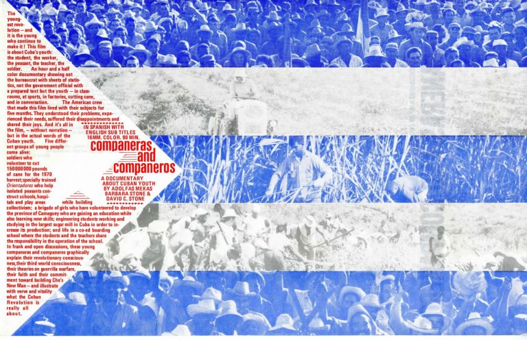 Companeras and companeros: a documentary about Cuban youth. Poster. Adolfas. Stone Mekas, designer, George, David. Maciunas, Barbara. Stone.