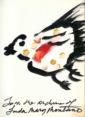 """""""Chicken books"""" A series limited to 111 books and periodicals from Linda Montano's personal library, each one decorated with an original gouache or pencil drawing by her of a chicken (perhaps in ecstasy?). Linda Montano."""