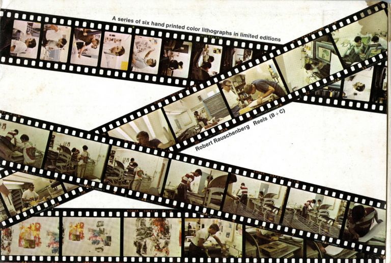 Robert Rauschenberg: reels (B+C): a series of six hand-printed color lithographs in limited editions. Prospectus. Robert. Gemini G. E. L. Rauschenberg, Los Angeles.