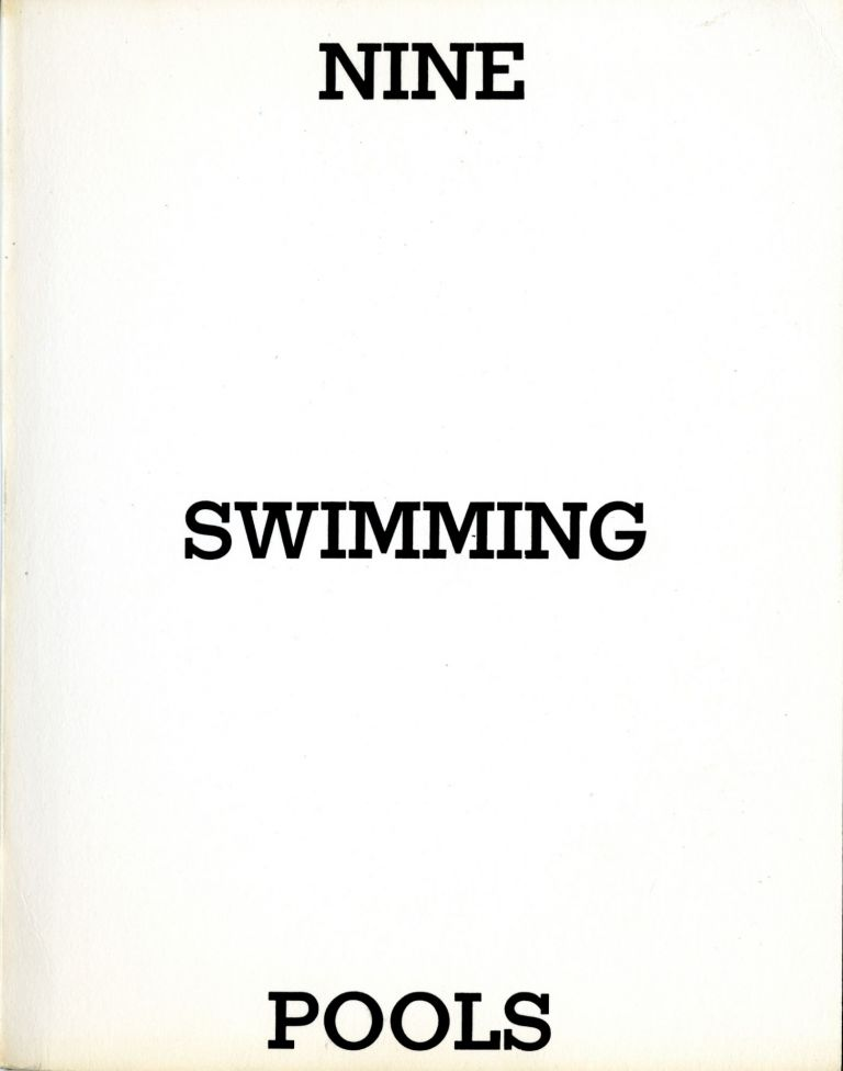 Nine swimming pools and a broken glass. First edition. Fine. Edward Ruscha.