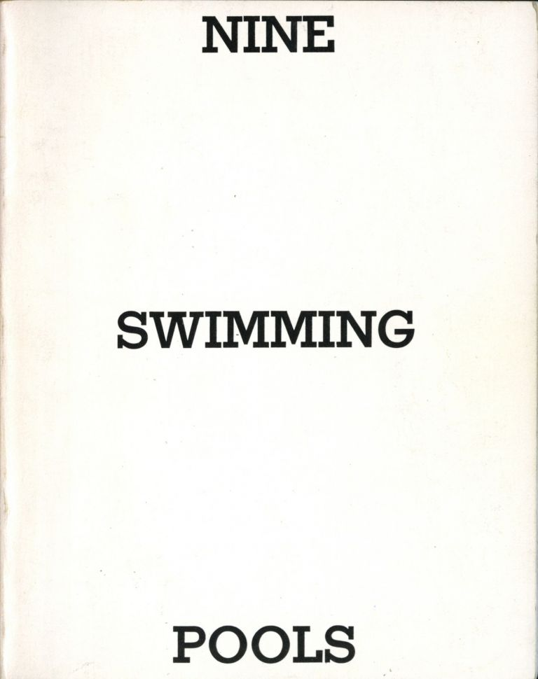 Nine swimming pools and a broken glass. Second edition. Fine. Edward Ruscha.