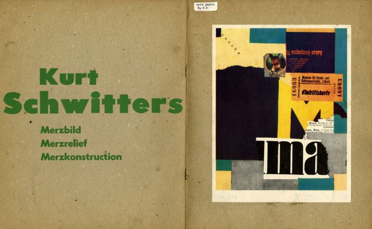 Sidney Janis presents an exhibition of collage, painting, relief & sculpture by Schwitters. October 13 through November 8, 1952. Annotated. Kurt. Tzara Schwitters, , Marcel, Tristan. Duchamp, Abraham Chanin, notes.