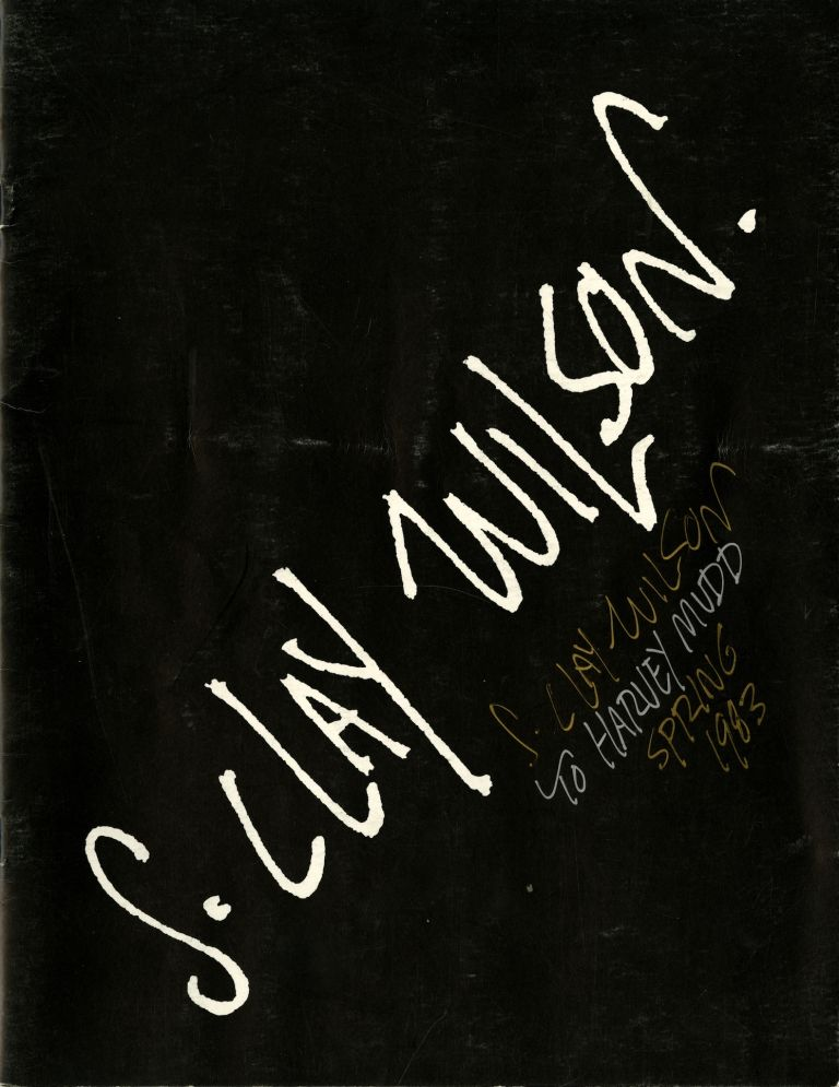 S. Clay Wilson: selected works. Inscribed on cover. S. Clay. Burroughs Wilson, William.