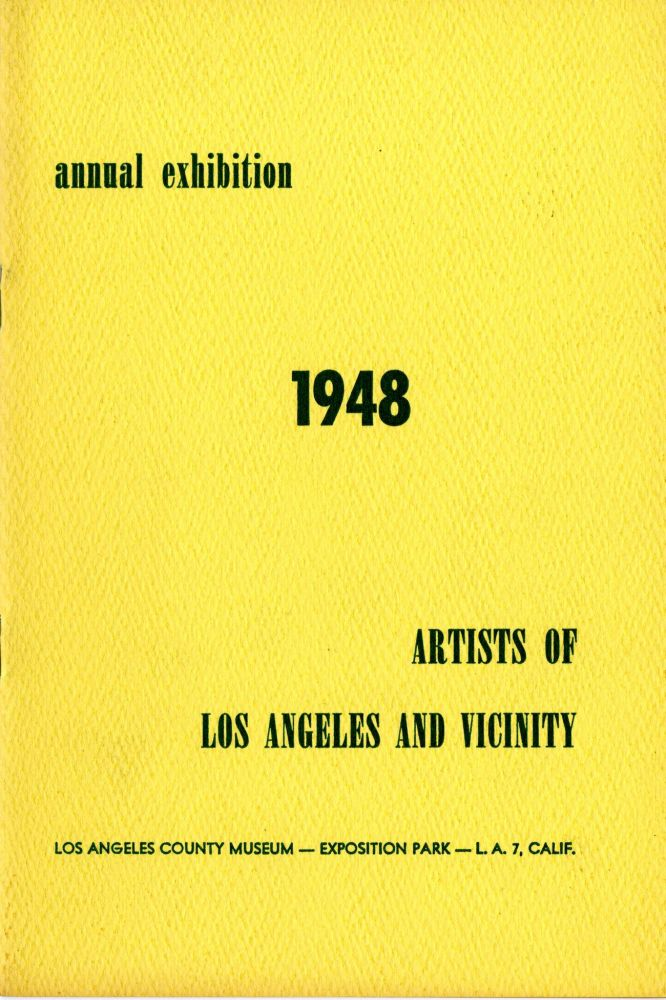 Artists of Los Angeles and vicinity: 1948 annual exhibition. Los Angeles County Museum.