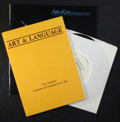 Collaborations. Art & Language. PLUS Abhasa: image-bearing light. PLUS Music from Abhasa (LP record). Robert Kramer Los Angeles Institute of Contemporary Art. Lita Albuquerque, Harold Budd.
