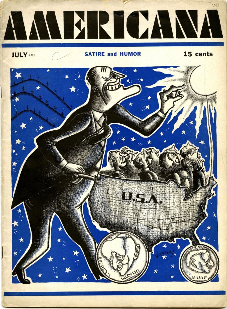 Americana: satire and humor. Vol. 1, no. 9, July [1933]. Alexander King, ed., Irving Kolodin, Bob Brown, George Grosz.