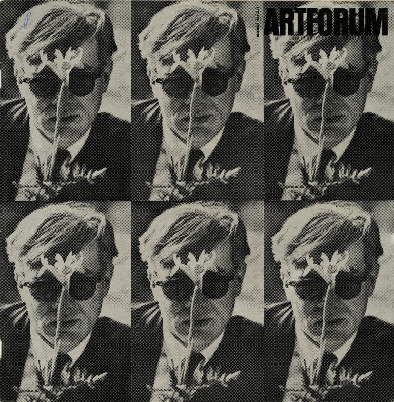 "Artforum, volume III, number 3, December 1964. With cover ""Andy Warhol,"" a photograph by Dennis Hopper. Philip Leider, Andy Warhol Dennis Hopper."