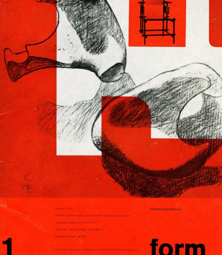 Form: internationale revue. 1:1957 [first issue]. Ernst Jupp, Sandberg, Curt Schweicher, Willem Wagenfeld, eds, Willem.