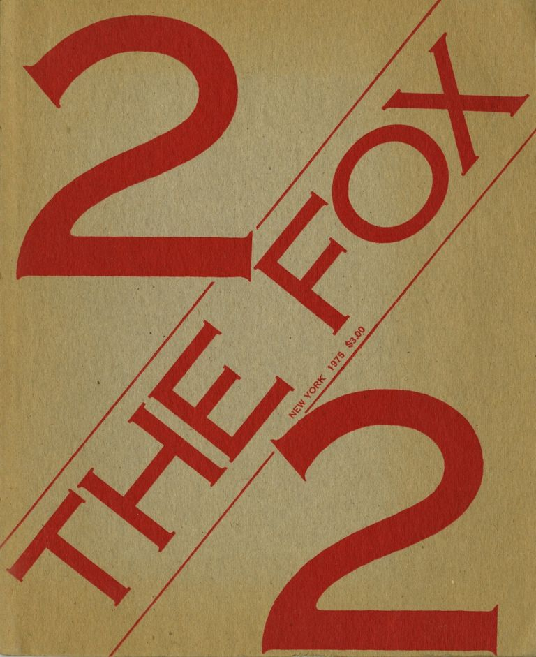 The Fox. Number 2, 1975. Art, New York. Ramsden Language Foundation, Mel, Sarah Charlesworth, eds, Joseph Kosuth.