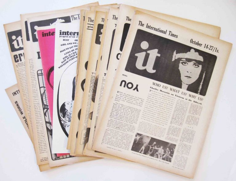 International times. IT. Numbers 1-15 plus 17, 1966-1967, Number 10 in photocopy. Tom McGrath, Barry Miles, eds.