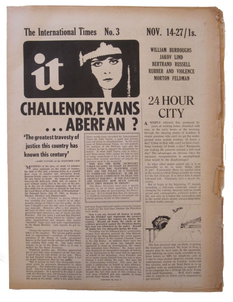 International times IT. Number 3, Nov 14-27, 1966. Tom McGrath, ed.
