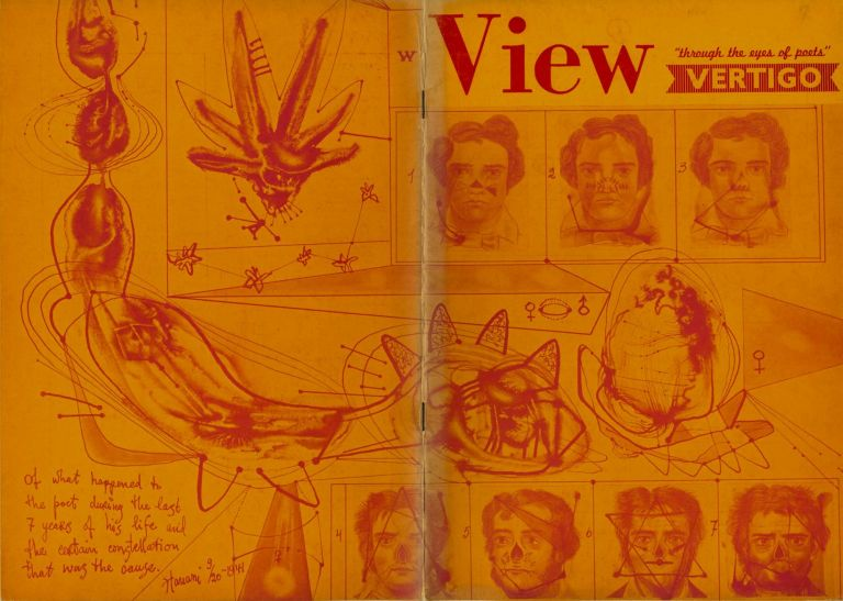 View: through the eyes of poets. 2nd series, no. 3, Oct. 1942. Vertigo issue. Charles Henri Ford, ed., pub, Max Ernst, pub.