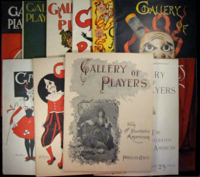 Gallery of Players from the Illustrated American. Complete in 12 parts. SALE PRICE through December 31, 2019. Austin Brererton, Charles Fdc Nirdlinger, Maxwell Hall, Henry Austin, Arthur Hoeber, Albert White Vore, eds.