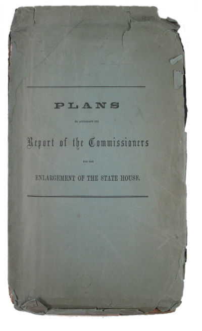 Plans to accompany the Report of the Commissioners for the enlargement of the State House. Gridley J. F. Massachusetts. Bryant.