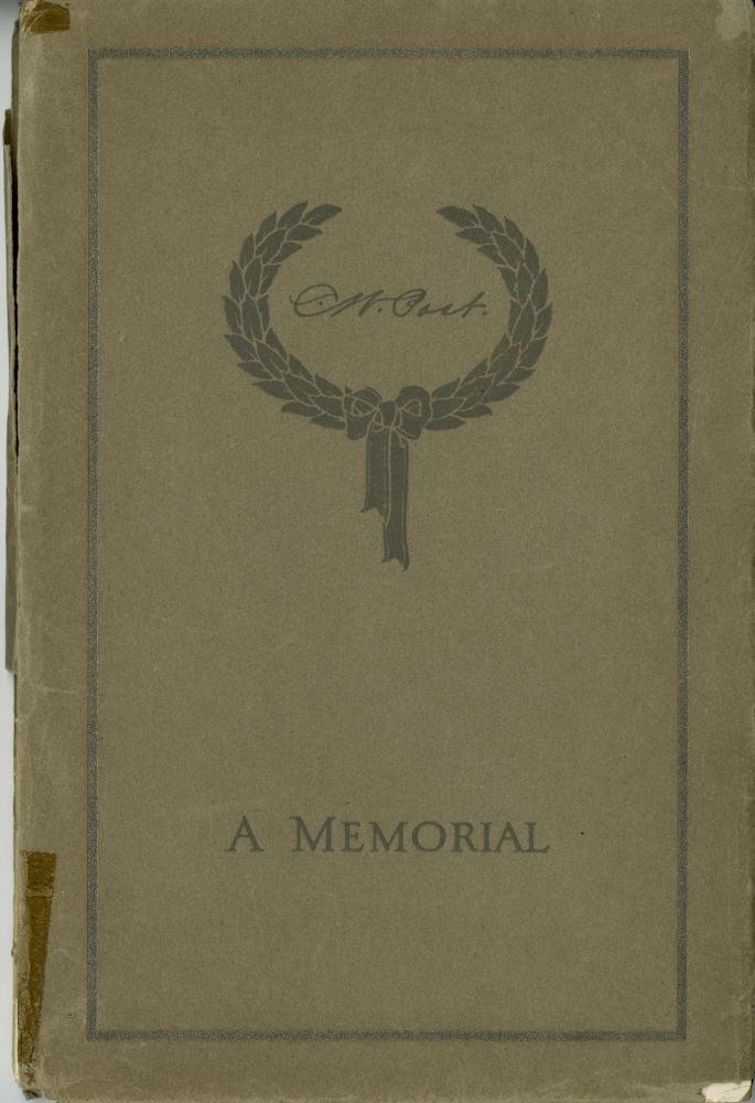 Charles William Post, both October 26, 1854, died May 9, 1914. [Cover title: C. W. Post: a memorial]. SALE PRICE through 31 December 2019. Charles William Post, the cereal king.