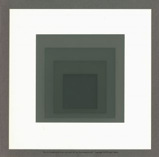Gray Instrumentation I F [Handprinted screen miniature of serigraph by Josef Albers in 4 shades...