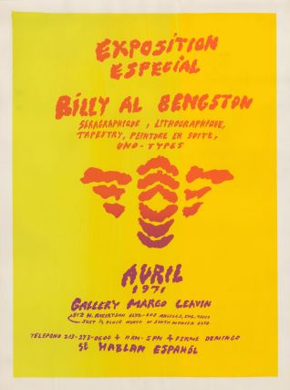 """Exposition Especial"": seragraphique, lithographique, tapestry, peinture en suite, uno-types. Avril 1971. Billy Al Bengston, 1934-."
