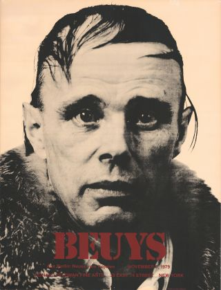 Beuys—Aus Berlin: Neues vom Kojoten. November 3, 1979. [Silkscreen poster, one of 14 copies]....