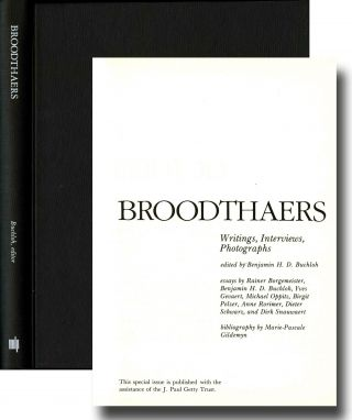 Broodthaers: writings, interviews, photographs. Marcel Broodthaers, Benjamin H. D. ed Buchloh.