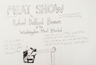 Meat show: an environment by Robert Delford Brown at the Washington Meat Market (poster). Robert Delford Brown.