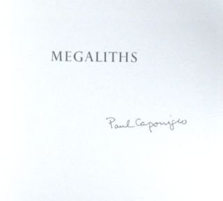 Megaliths. Signed. Paul Caponigro.