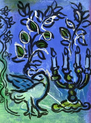 Two original color lithographs from Jerusalem Windows by Jean Leymarie (1962)