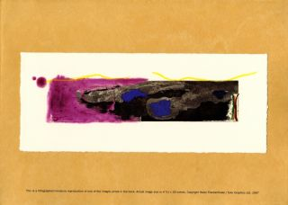 This is not a book. Prospectus with miniature color print. Helen Frankenthaler