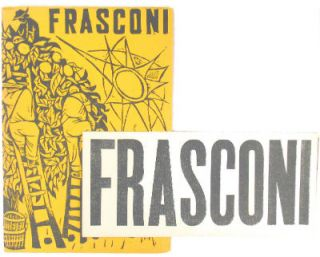Frasconi: recent woodcuts. March 12 - April 11, 1951. Antonio Frasconi, Weyhe Gallery.