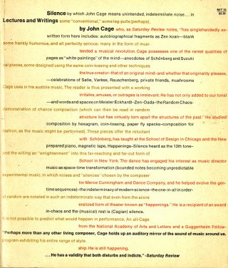 Silence: lectures and writings by John Cage, with original gouache