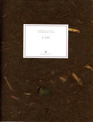 Easy [original French title: Facile]. Poems by Paul Eluard. Photographs by Man Ray. Translated,...