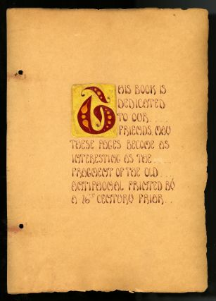 Unique, handmade guest book from St. Malo (Oceanside), California, 1935-1951