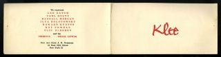 Klee [announcement]. Paul. Selz Klee, J. B., Peter. Novalis. Neumann
