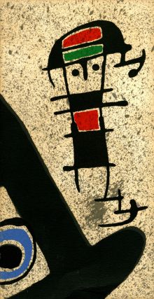 Joan Miró: le lézard aux plumes d'or, with original lithograph cover. Joan . Broder...