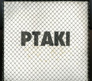 """Ptaki. Birds, realized at Galeria RR, June 1985 [12-inch vinyl LP record in pasteboard sleeve and wire mesh covering, """"Art"""" packaging]"""
