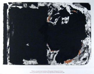 Lament for Lorca. [Handprinted miniature of lithograph by Robert Motherwell.]. Robert. Tyler...