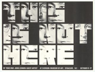 This is not here: by Yoko Ono; John Lennon-guest artist. At Everson Museum of Art, Syracuse,...