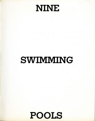Nine swimming pools and a broken glass. First edition. Fine. Edward Ruscha
