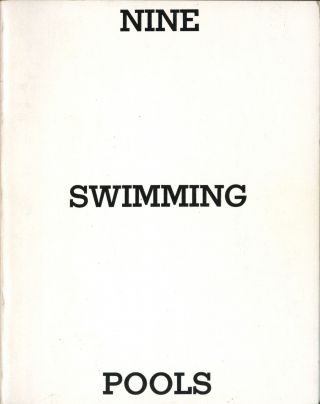 Nine swimming pools and a broken glass. Second edition. Fine. Edward Ruscha