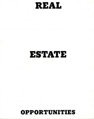 Real estate opportunities. Edward Ruscha