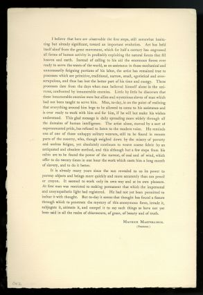Camera work number 2 (April 1903) supplement; facsimile letter supplied with number 3 (July 1903)