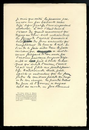 Camera work number 2 (April 1903) supplement; facsimile letter supplied with number 3 (July...