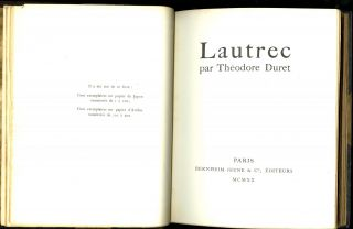 Lautrec. 1 of 200 copies with an original etching and a color lithograph