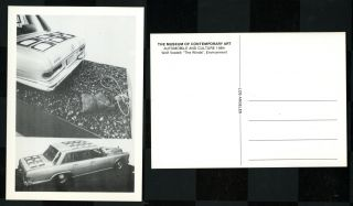 """The Winds."" Postcard. Automobile and Culture, 1984. Wolf Vostell"