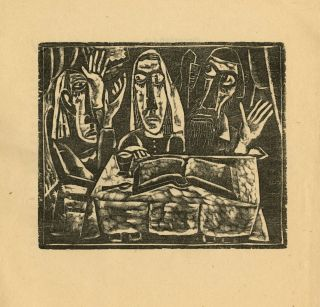 Things: an essay and woodblock print by Max Weber