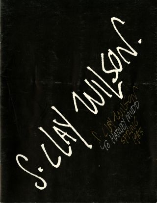 S. Clay Wilson: selected works. Inscribed on cover. S. Clay. Burroughs Wilson, William